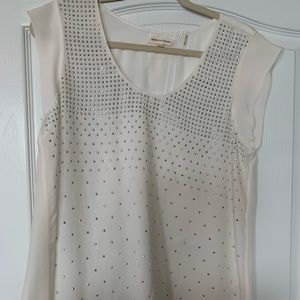 Silver Studded silk blouse